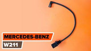 Kaip pakeisti įspėjimo kontaktas stabdžių trinkelių susidėvėjimas MERCEDES-BENZ (W211) E Klasė