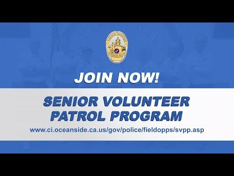 Oceanside Police Department -  Senior Volunteer Program