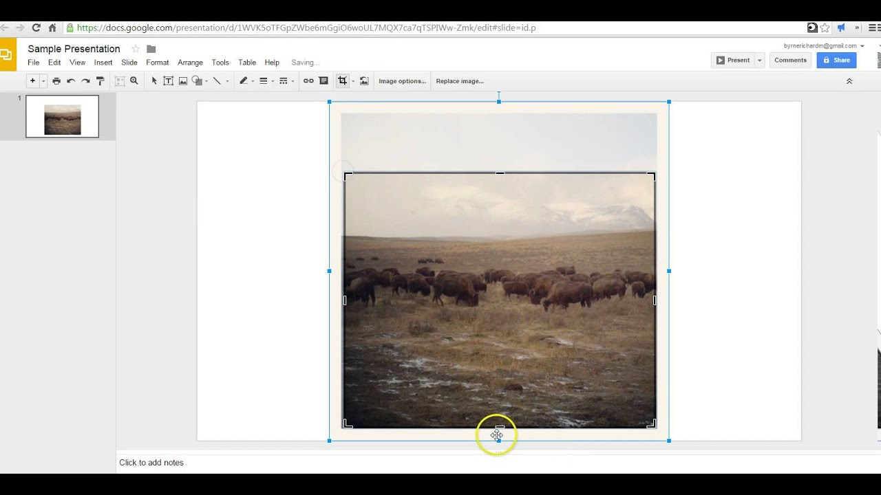 how to crop edit images in google slides youtube