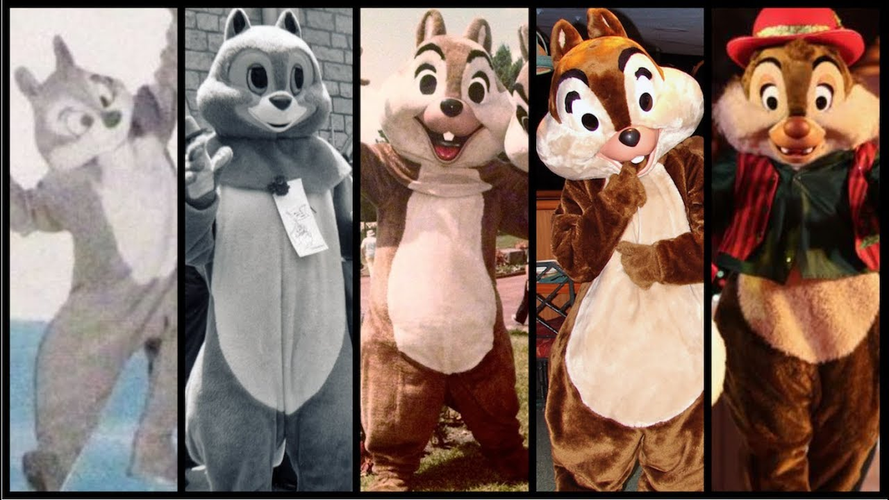 the evolution of chip dale in disney theme parks distory ep 9 disney theme park history
