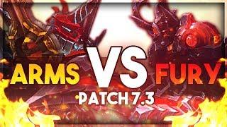 Arms Vs Fury Warrior PvP - WoW Legion Patch 7.3 - Dazlirn