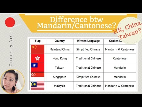 Difference btw Mandarin & Cantonese? Traditional Chinese vs. Simplified Chinese? #CheeseOnRice ep003