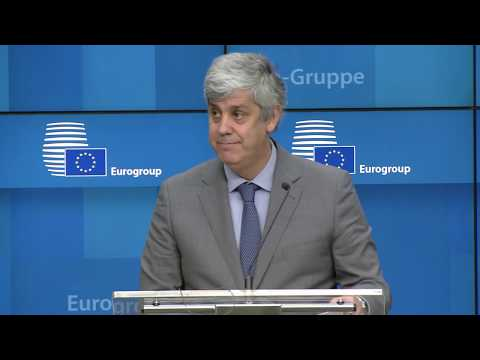 Brexit And Trade War Risks Have Eased. Mário Centeno At Eurogroup Meeting Press Conference