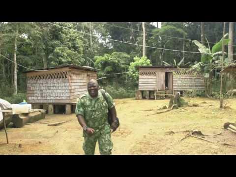 Africa Gabon Puma Helicopter anti poachers task