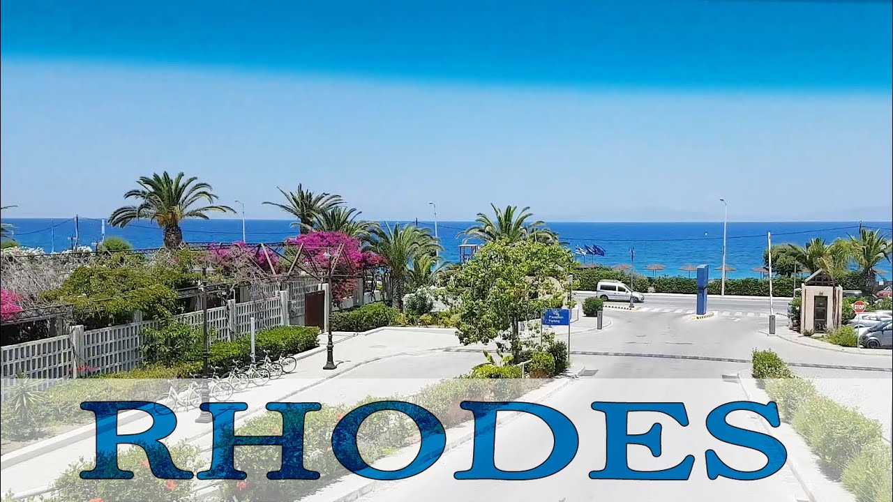 Greece, Ride from the airport to the hotels of Rhodes, part - 3