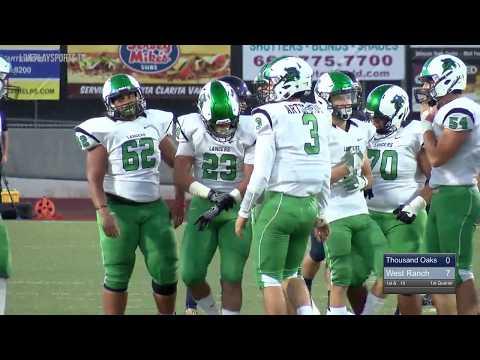 Thousand Oaks vs West Ranch 2017 Varsity Football