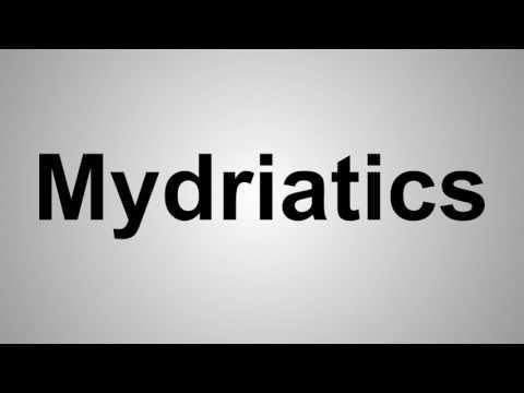how to pronounce mydriatics