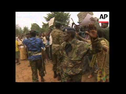 BURUNDI: HUNDREDS OF TUTSIS PROTEST AGAINST PRESIDENT OF BURUNDI