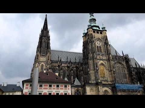 Oval Office and St.Vitus Cathedral in Prague Castle