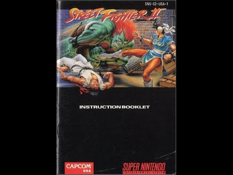 street fighter ii the world warrior game manual snes rh youtube com Judge Dredd SNES Manual snes game manual scans
