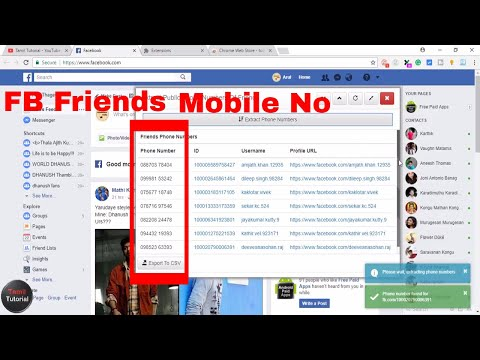How to Get Facebook Friends Mobile Number...