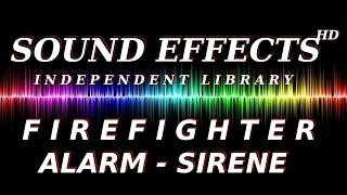 SOUND EFFECT: FIREFIGHTER-ALARM- SIRENE --- FEUERWEHR SIRENE