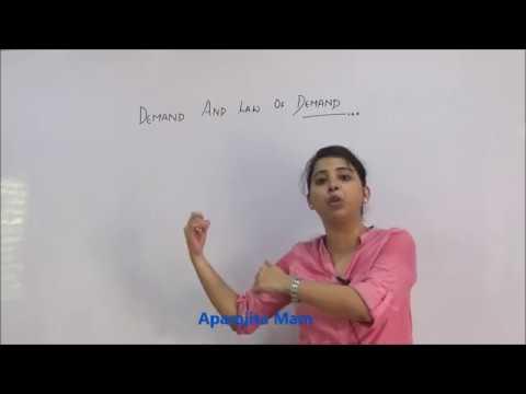 Class 12 : Economics : CBSE : Demand