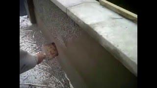 pebble dashing garden wall (mac plastering services exterior plaster