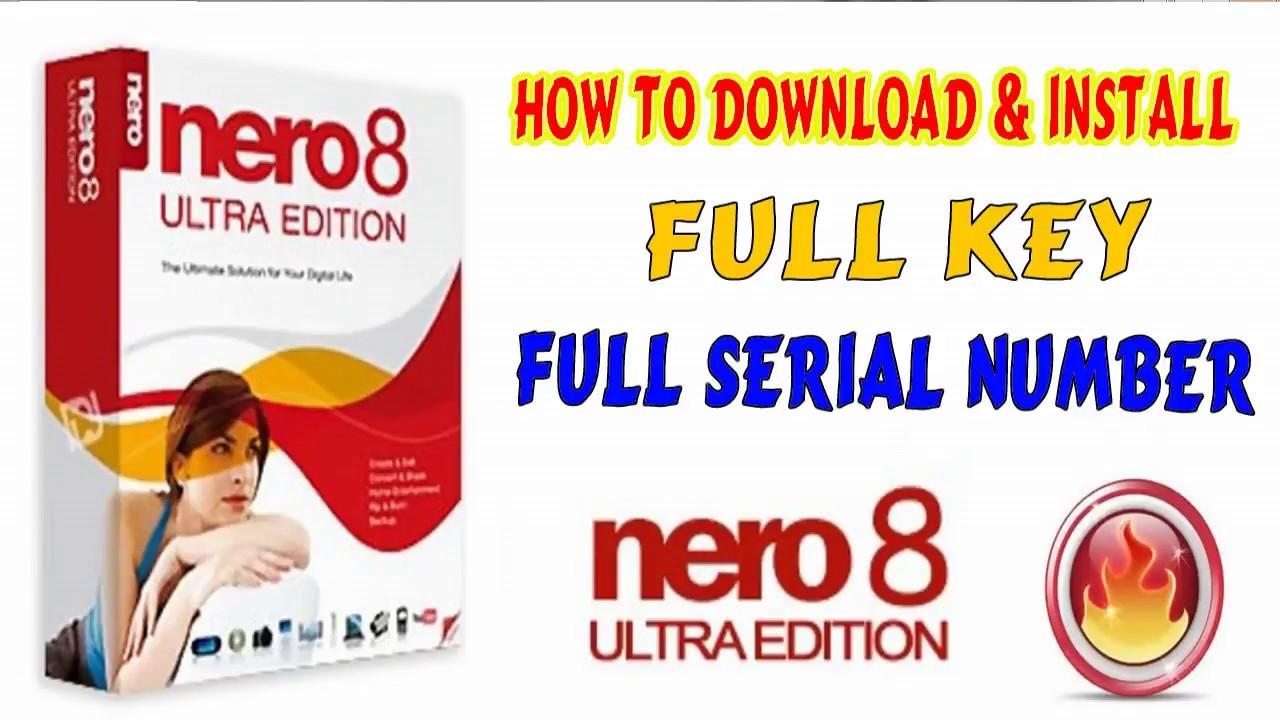 nero 8 serial numbers