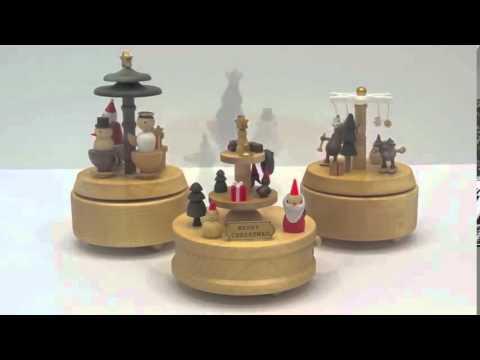 Wooderful life Christmas Handmade Wooden Music Box