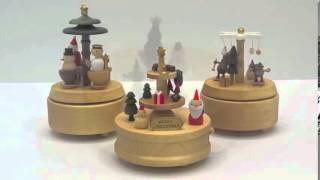 Wooderful Life Christmas Handmade Wooden Music Box