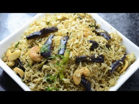 Spicy Pulao with Stir fry Brinjals  - By Vahchef @ vahrehvah.com