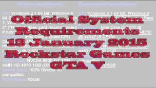 GTA V Official System Requirements/zahtjevi