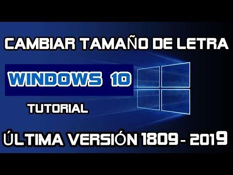 Change font size in WINDOWS 10 Version 1703 (latest update of windows 10 2017)