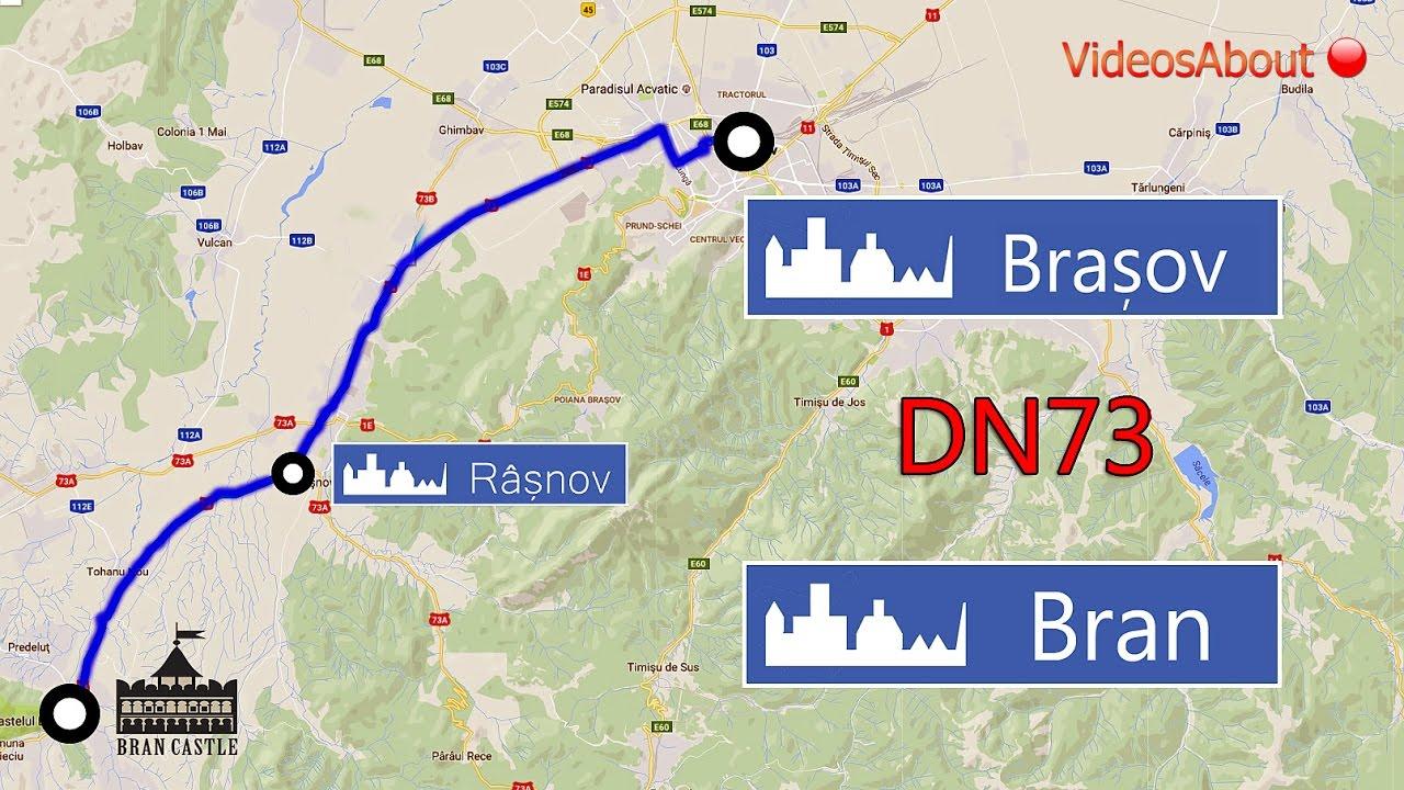 Ruta Auto Bran Rasnov Brasov Dn73 Youtube