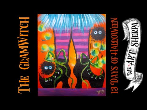 witch-feet-easy-acrylic-painting-step-by-step-live-stream-#13daysofhalloween-|-theartsherpa