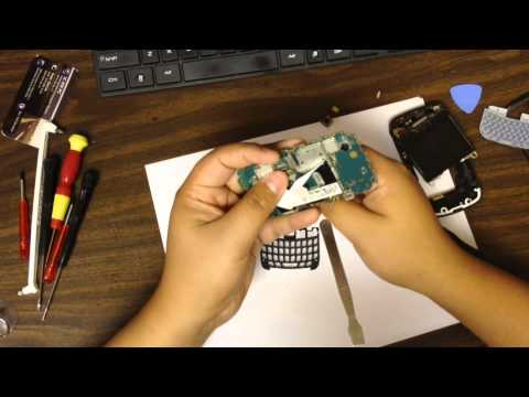 Blackberry 9300 Curve Trackpad Replacement Tutorial DIY