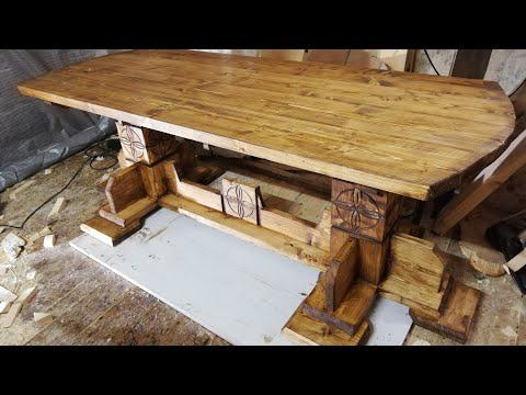 стол своими руками (РУСИЧ) LARGE DINING TABLE DIY