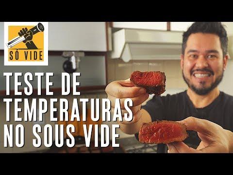 TESTE DE TEMPERATURAS NO SOUS VIDE PARA CARNE | SÓ VIDE #44