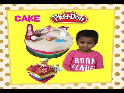 Play doh Cake Challenge Rainbow Cake |How to make Play Dough Cake with Confections