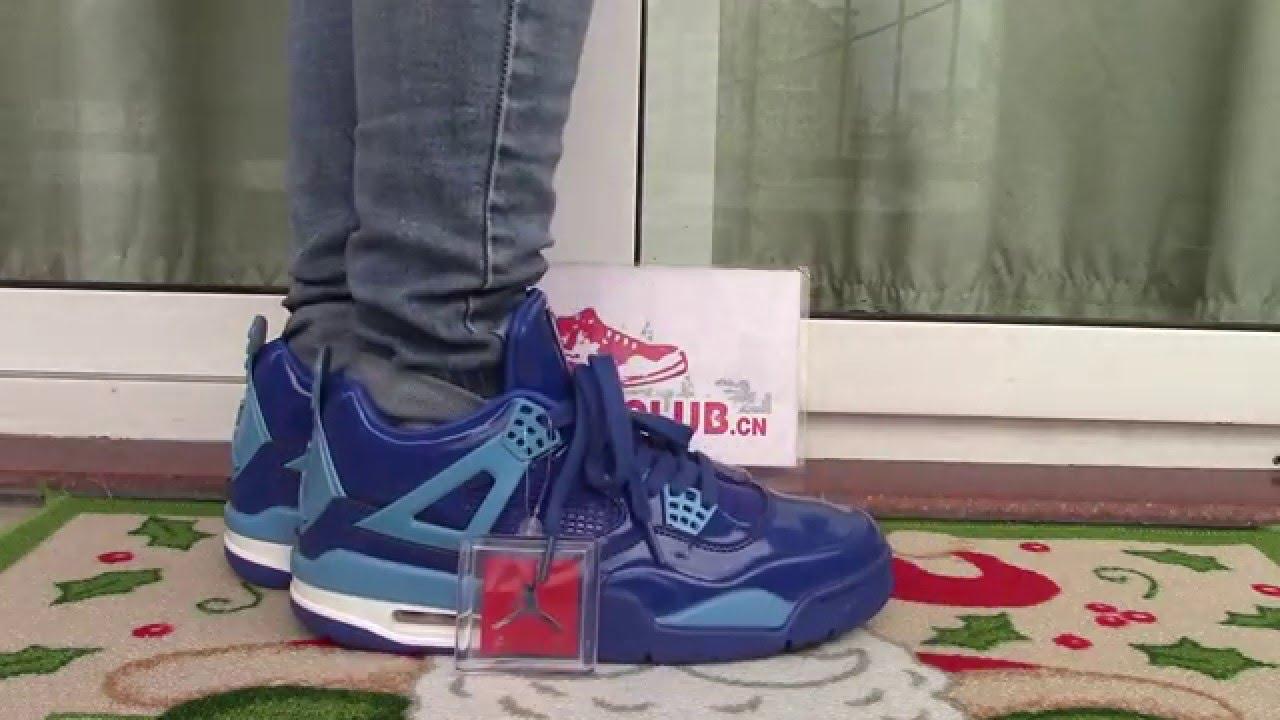 e54077ed529d00 AIR JORDAN 11lab4 blue on foot - YouTube