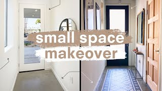 DIY Entryway Transformation *small space hacks!*