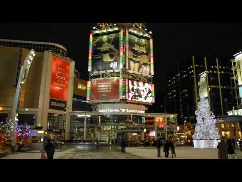 Christmas Eve in downtown Toronto