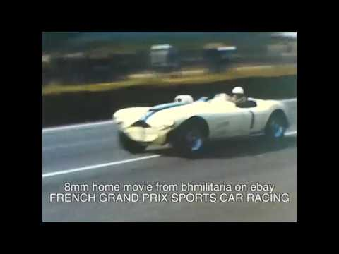 8mm Home Movie FRENCH GRAND PRIX SPORTS CAR RACING 1950u0027s