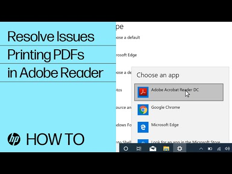 Resolve Issues Printing PDFs From Adobe Reader In Windows | HP Printers | HP