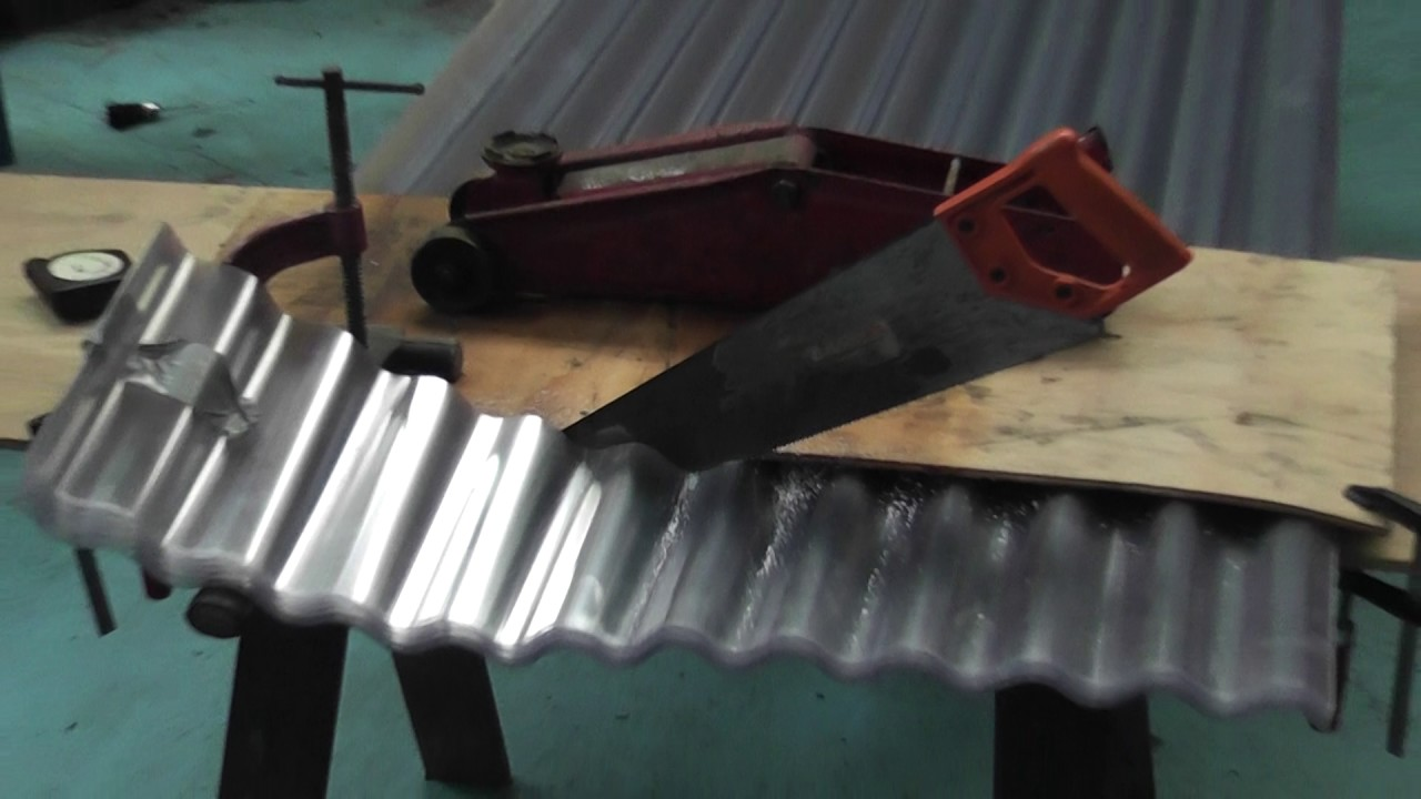 Clear Roofing Sheet Cutting Youtube