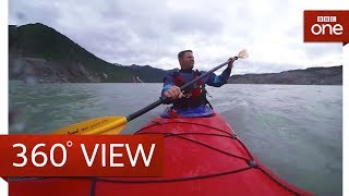 Kayak with Steve Backshall in 360°: Wild Alaksa Live: BBC One