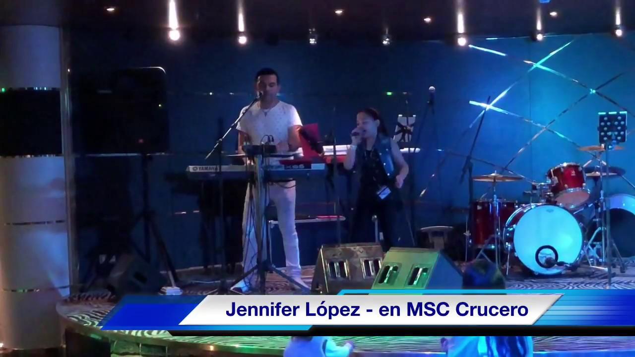 Jennifer Lopez - Cantando en CRUCERO (10 Años)