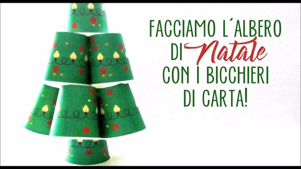 Albero Di Natale Con Bicchieri Di Plastica.Albero Di Natale Fatto Con Bicchieri Di Carta Youtube