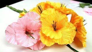 Цветы из бумаги.  Гладиолус из гофрированной бумаги