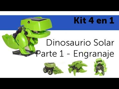 Kit solar 4 en 1 - Armado de Dinosaurio Solar  - Parte 1 Engranaje