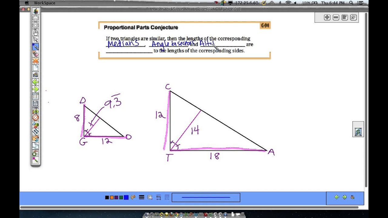 11 4 Corresponding Parts Of Similar Triangles