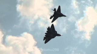 PAK-FA / T-50 Russian Air Force 100th Anniversary Air Show 2012 Aug.12
