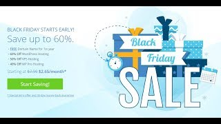 Bluehost Black Friday 2019 - $2.65/month [Live]