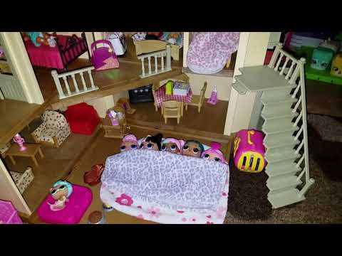 Good Night LOL SURPRISE! Doll, L.O.L. SURPRISE Sleepover with Princess Gianna Bella.