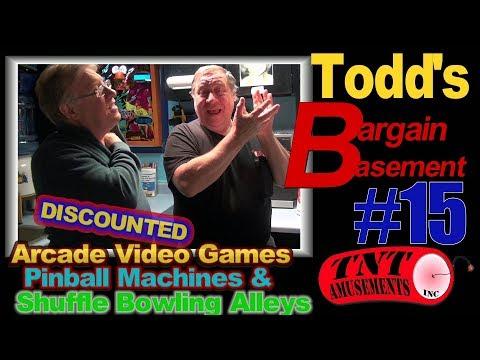 #1358 BARGAIN BASEMENT #15- 62 Discounted ARCADE VIDEO AND PINBALL MACHINES! TNT Amusements