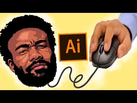 How To Cartoon Yourself !- Mouse & Pencil Tool Only! /Childish Gambino  ( ADOBE ILLUSTRATOR )