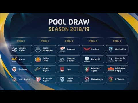 Live 2018 19 Heineken Champions Cup And Challenge Cup Pool Draws