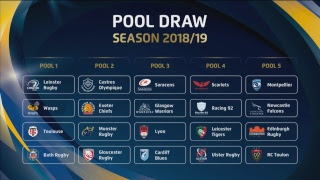 LIVE - 2018/19 Heineken Champions Cup and Challenge Cup Pool Draws