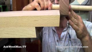 06 Four Drawer Bedside Table • Marking Dovetail Pins